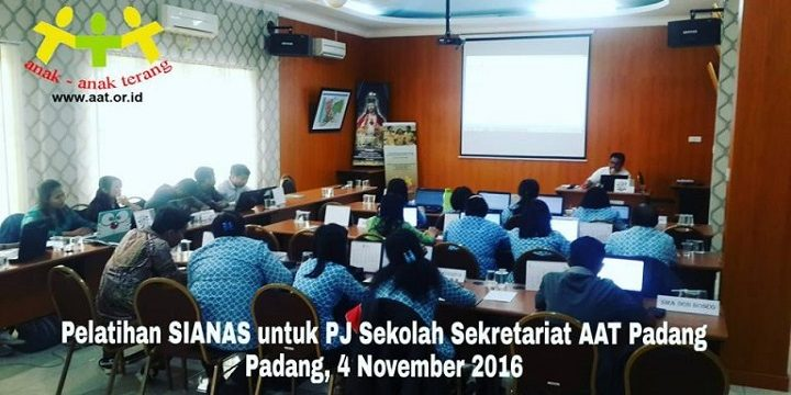 Pelatihan SIANAS AAT Padang